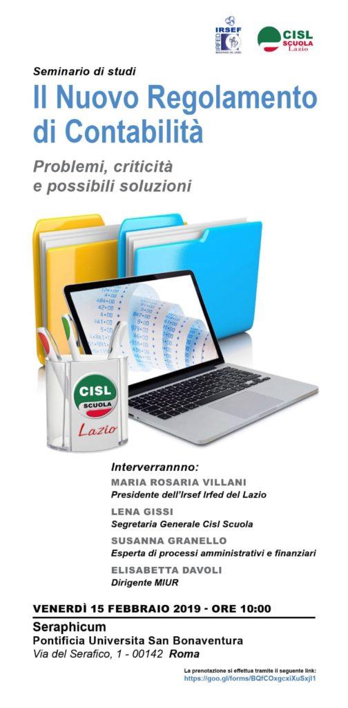 seminario nuovo regolamento di contabilità