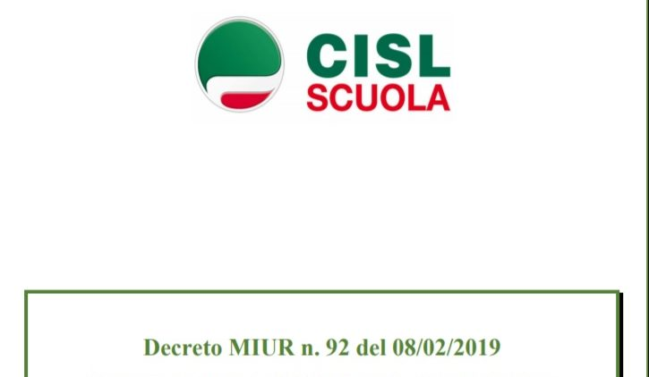 Scheda Cisl Specializzazione Sostegno